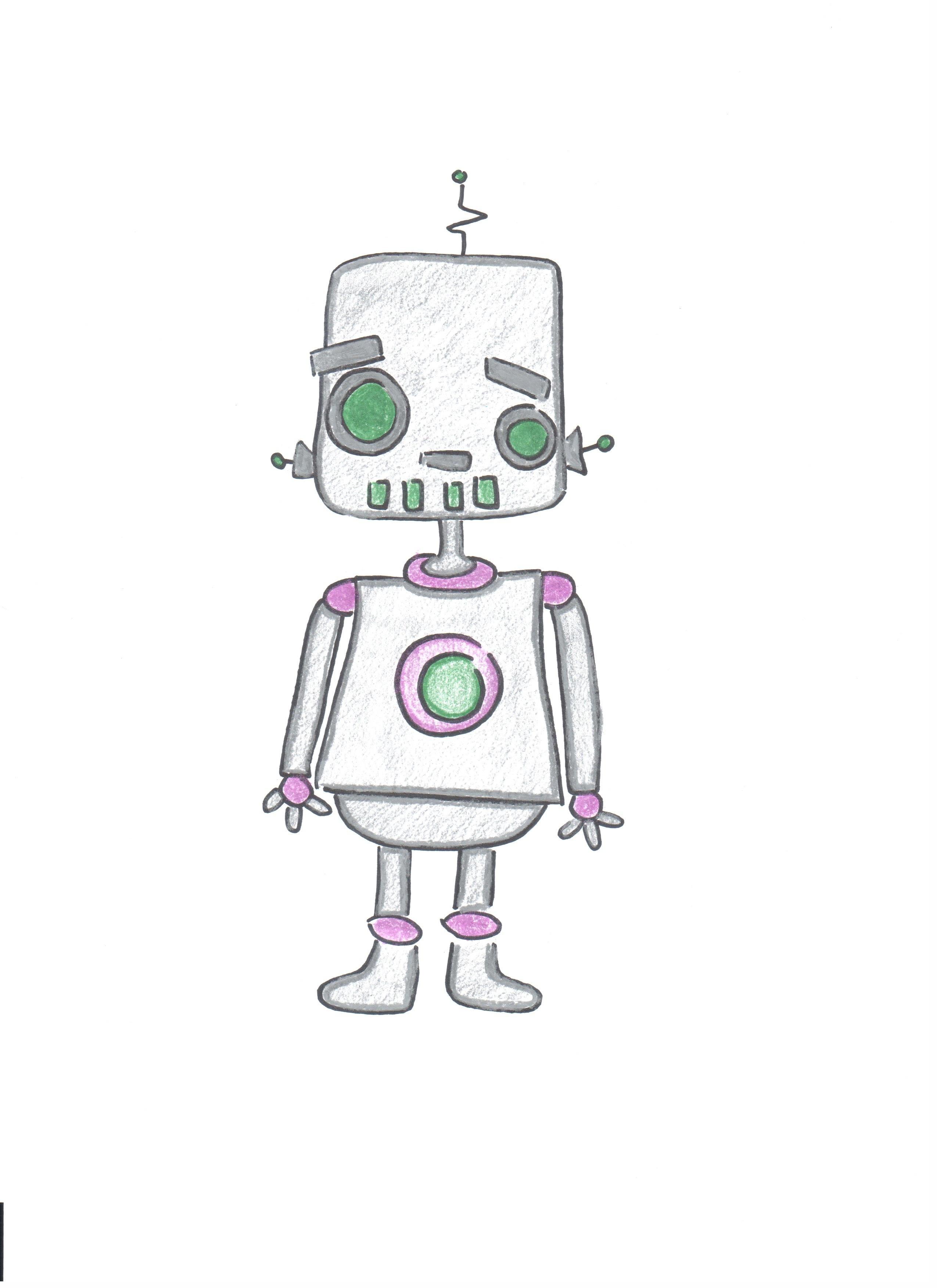 Kleurplaat Robotboy Kidkleurplaat