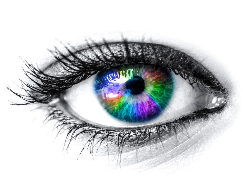 Colorful eye - the way eyes work