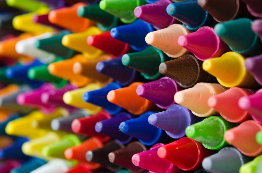 Crayons for rods and cones