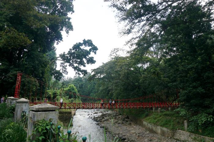 jembatan merah kebun raya bogor