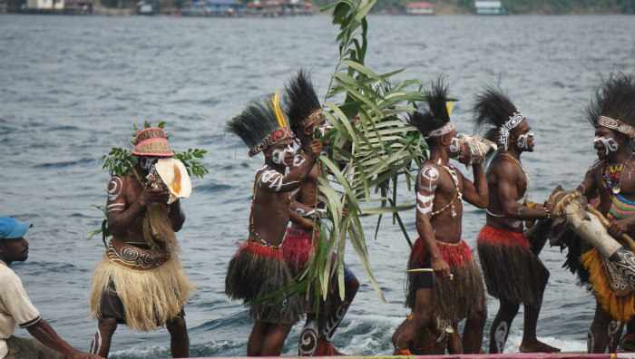 Culture parade sentani lake festival