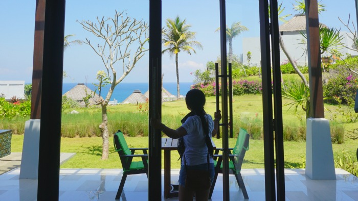 view from the villas of Samabe Bali