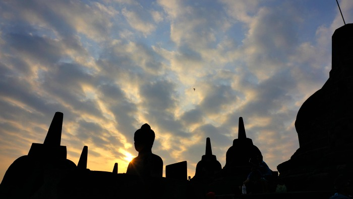 sunrise via manohara in Borobudur temple
