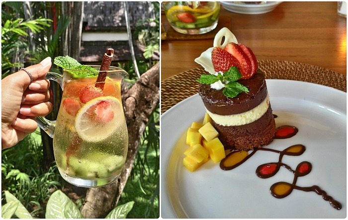 drinks and sweets at Hotel Lumbung Seminyak