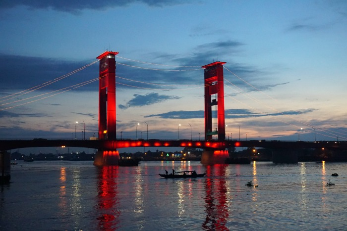 Ampera Bridge Palembang a great area to stay in Palembang