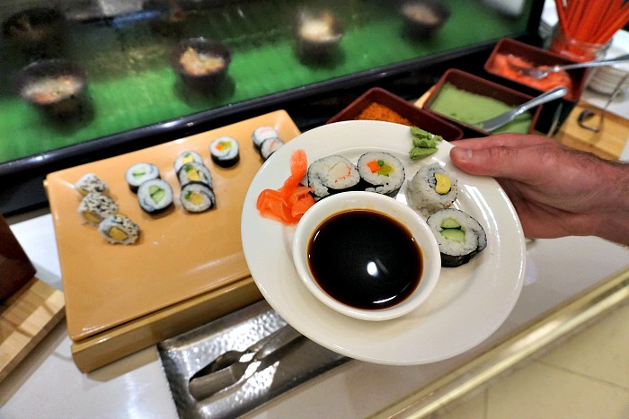 Tasty Sushi for breakfast at Shangri-La Surabaya