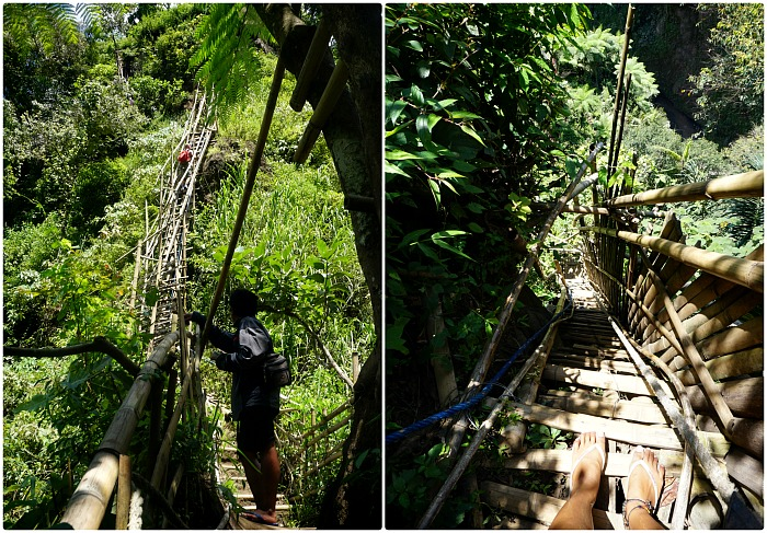 The bamboo ladders of Coban Sewu
