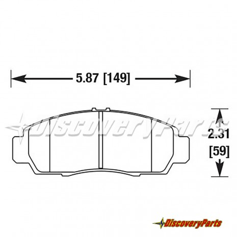 Front Black Brake Calipers Pads For Acura CL RL TL TSX