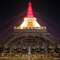 La Tour Eiffel aux couleurs du drapeau Belge
