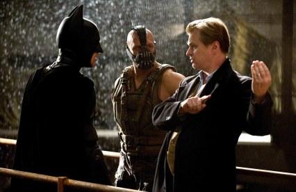 Nolan on set of The Dark Knight Rises