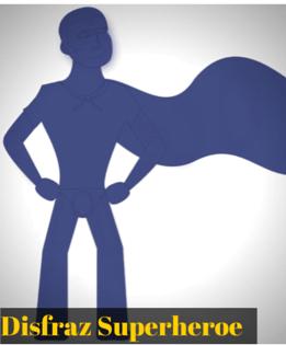 Disfraz geek de superheroe