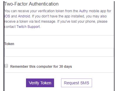 verify token for 2fa