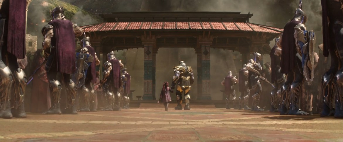 thanos flashback and the chitauri