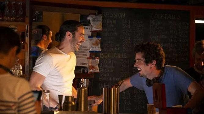 ahar Rahim & Damien Chazelle on the set of 'The Eddy' courtesy of Netflix