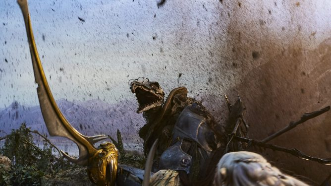 A Skeksis as seen in The Dark Crystal: Age of Resistance.