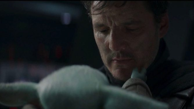 Pedro Pascal takes off his Mando helmet to say goodbye to Baby Yoda in the season 2 finale of The Mandalorian.