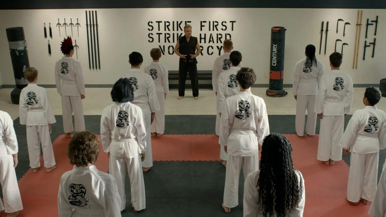 Martin Kove as John Kreese leading his new dojo in season 3 of Cobra Kai coming to Netflix January 2021.