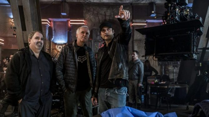 Producers Jon Landau & James Cameron are guided on the set of Alita: Battle Angel by director Robert Rodriguez.