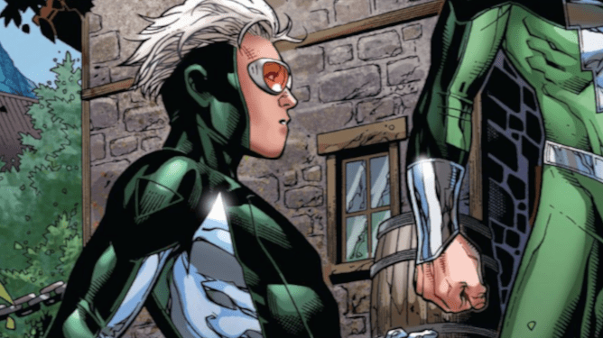 Speed from the Young Avengers as seen in Marvel Comics.