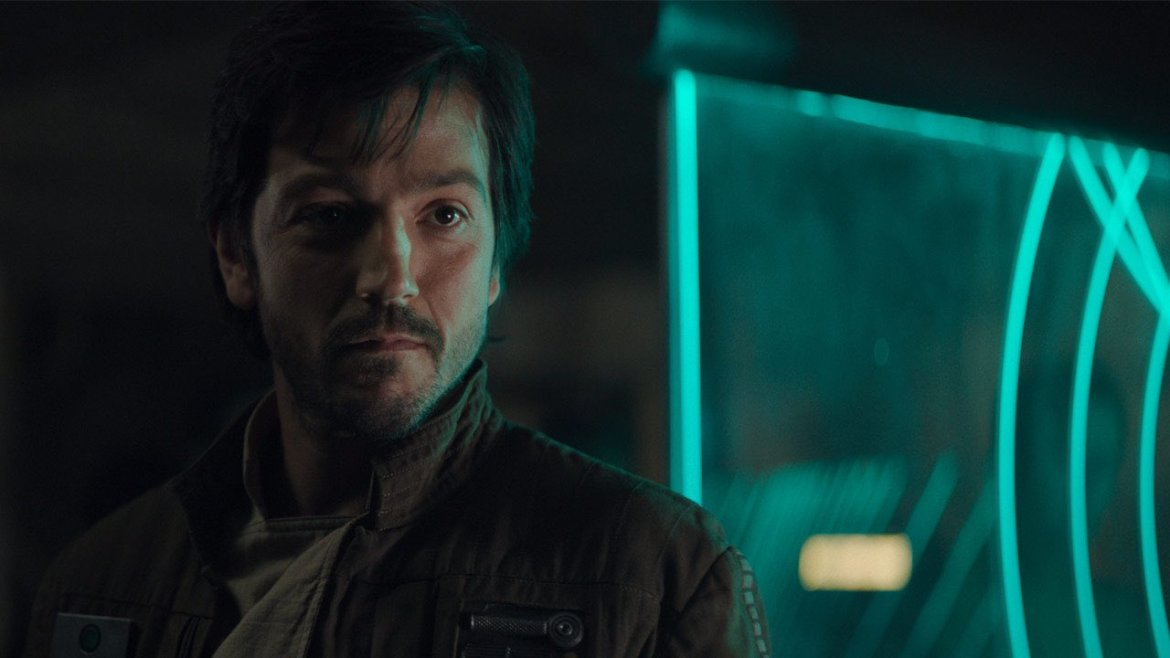 Cassian Andor played by Diego Luna, soon to lead his own series on Disney+