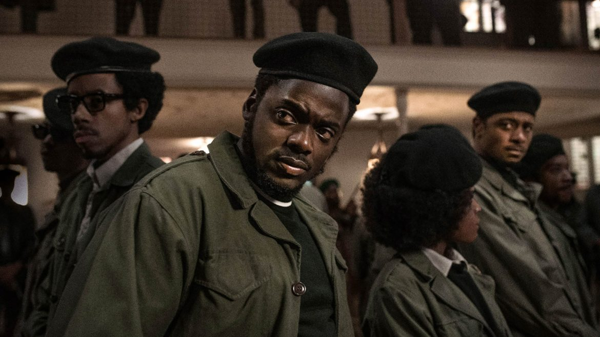 Daniel Kaluuya and Lakeith Stanfield in Black Panther attire as seen in Judas and the Black Messiah.
