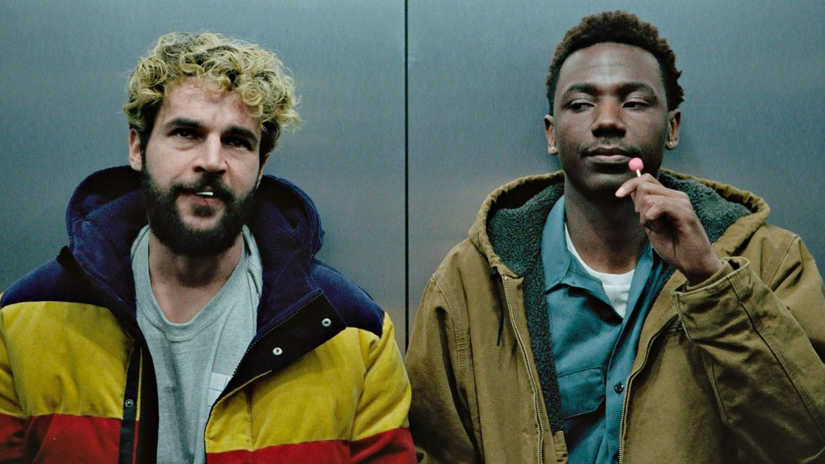 Christopher Abbott and Jerrod Carmichael as seen in the Sundance 2021 film On the Count of Three