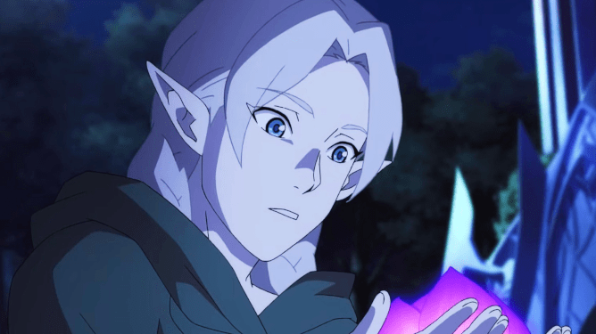 Fymryn voiced by Freya Tingley as seen in the new Netflix anime series Dota: Dragon's Blood.