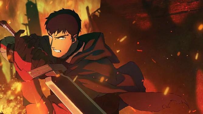 Davion voiced by Yuri Lowenthal as seen in the new Netflix anime series Dota: Dragon's Blood.