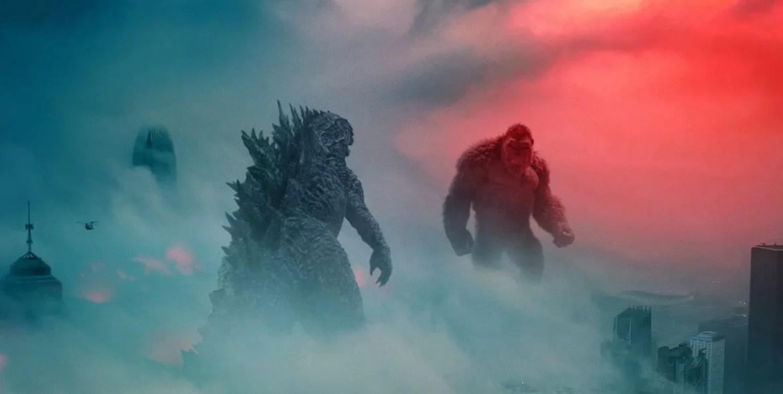 Godzilla faces off against Kong as seen in Godzilla vs Kong.