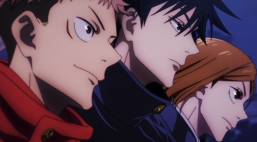 The main characters of the hit anime series Jujutsu Kaisen.