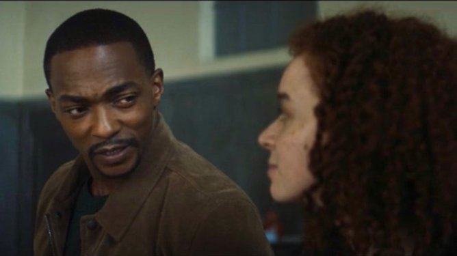 Sam Wilson tries to reconcile with Kari Morgenthau, the leader of the Flag Smashers, as seen in Episode 4 of The Falcon and the Winter Soldier.