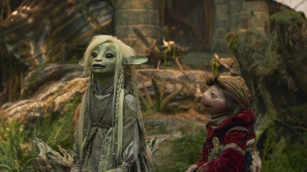 Characters from The Dark Crystal: Age of Resistance on Netflix with original music by Daniel Pemberton.