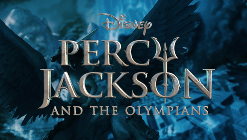 The title card for the new faithful Percy Jackson series coming to Disney+