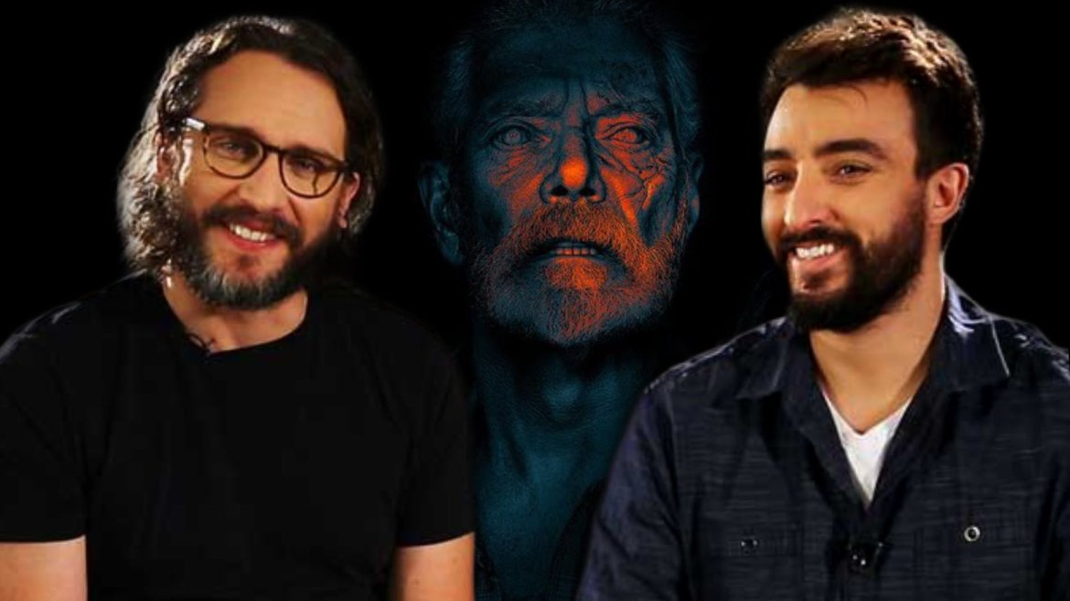 Filmmakers Fede Álvarez and Rodo Sayagues side by side to the Blind Man from DON'T BREATHE 2