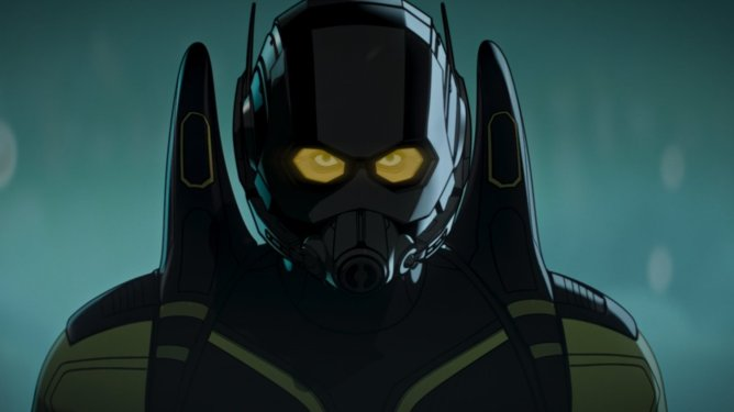 Hank Pym dressed as the Yellow Jacket in the Fury's Big Week episode of Marvel's WHAT IF...? on Disney+