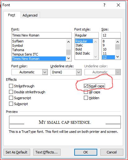 Microsoft Word Small Caps : microsoft, small, Create, Small, Apple, Community