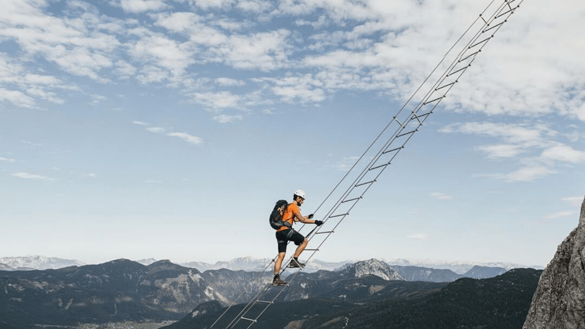 "Would you climb Austria's ""Sky Ladder to Heaven""?"