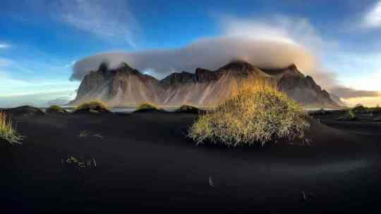 The beauty of Iceland's Vestrahorn mountain
