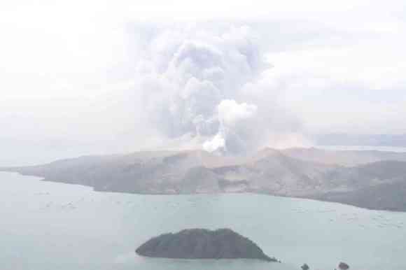 The Taal volcano erupts in Philippine capital