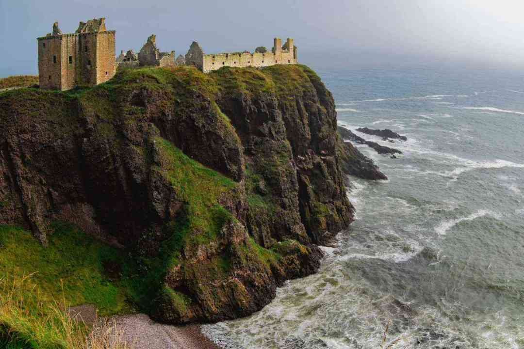 "Take an amazing ""bird's eye"" view above Scotland's Orkney's cliffs"