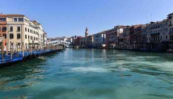 Venice, Italy from space before and after coronavirus lockdown