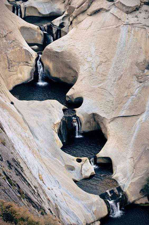 7 Teacups Waterfall at Patagonia, Chile