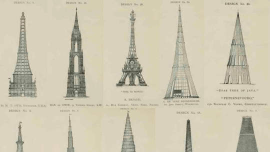 Rejected designs for the Eiffel Tower