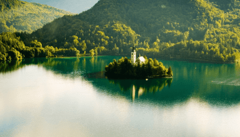 the beauty of slovenias bled island