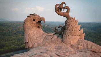 jatayu the worlds largest bird sculpture