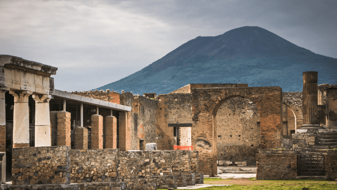 two ash covered bodies from vesuvius eruption uncovered at pompeii