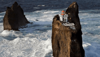Impossible heights: Lighthouse of Thridrangar, Iceland