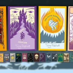 Kitchen Magnets Glass Cabinet Doors Discworld Collector's Library Covers To Continue ...