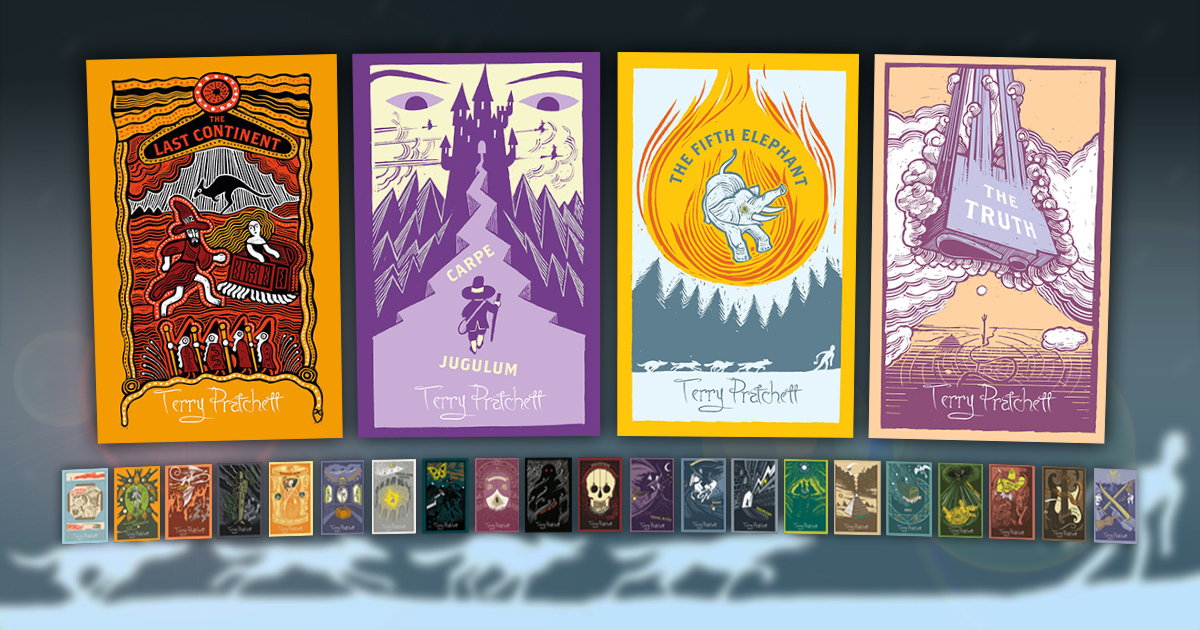 kitchen magnets white painted cabinets discworld collector's library covers to continue ...