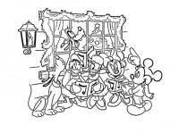 Disegni da colorare disney natalizi: canto di Natale